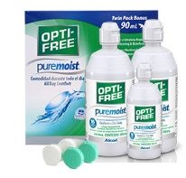 OPTIFREE PURE-MOIST 2 BOTES 300ml + 1 DE 90ml